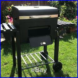 Deluxe Charcoal Bbq Garden Barbecue Trolley Large Stainle Steel Grill Stove Cart