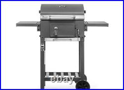 Deluxe Charcoal Bbq Garden Trolley Outdoor Grey Stainless Steel Grill Barbeque