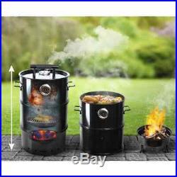 Esschert Design Barrel BBQ Smoker S Outdoor Cooking Barbecue Charcoal Grill