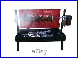 FC Portable 10kg Capacity 240v Camping Mini Spit Roaster Charcoal BBQ Grill