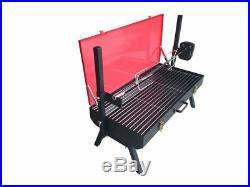 FC Portable 10kg Capacity Camping Small Spit Rotisserie Charcoal BBQ Grill