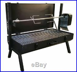 FC Portable 240v Mini Spit Camping Spit Roaster Rotisserie Charcoal BBQ Grill