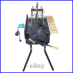 Flaming Coals Junior Cyprus Spit Deluxe Roaster Rotisserie Charcoal BBQ Grill