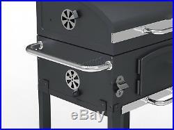 FoxHunter Charcoal BBQ Grill Barbecue Smoker Grate Garden Portable Outdoor Grey