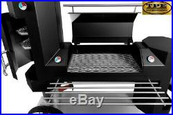 GALL01 Three section BBQ Grill with Pizza Oven (Wood, Charcoal, Briquettes)