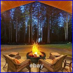 Garden stove Fire Bowl BBQ Heating Tool Wooden charcoal Bon fire Poker Grill