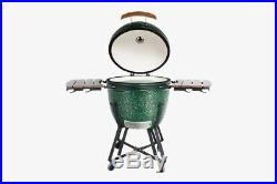 Grden Grill 23.5 (60 cm) Ceramic Kamado Charcoal Barbecue in Green + Cover