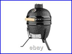 Grill Meister Ceramic Barbecue Japanese Style Mini Kamado BBQ Smoker 110-370C