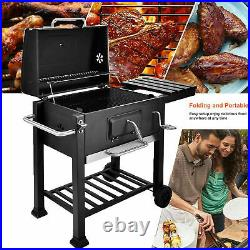 Grill Outdoor Large Smoker Thermometer Charcoal BBQ Portable Grill Garden BBQ