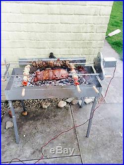 Grill Top Cypriot Greek BBQ Steel Kebab & Rotisserie Spit