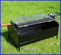Handfree Barbecue Electric Motor Roast Grill Camping Charcoal Patio Garden Outdo
