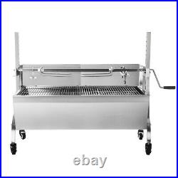 Hog Roast Spit Roast Machine Rotisserie Charcoal Barbecue Grill BBQ Length 118CM