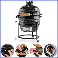 Igloo Kamado Mini BBQ Grill Smoker Ceramic Egg Charcoal Cooking Oven Outdoor