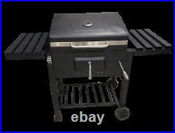 Iron Folding Charcoal BBQ Barbecue Grill Charcoal Outdoor Garden Stove Black UK