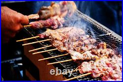 Japanese Yakitori BBQ Porous Ceramic Barbecue Grill Hibachi Konro 77 x 23cm