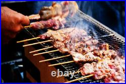 Japanese Yakitori BBQ Porous Ceramic Barbecue Grill Hibachi Konro 77 x 23cm k05
