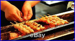 Japanese Yakitori BBQ Stainless Charcoal Grill Barbecue Hibachi Konro 75 x 18cm