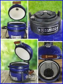 KAMADO KINGDOM 13 BBQ GRILL EGG CERAMIC WHITE Red Blue NOT GREEN BONO JOE