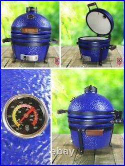 KAMADO KINGDOM 16 BBQ GRILL EGG CERAMIC WHITE Red Blue NOT BIG GREEN BONO JOE