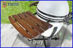 KAMADO KINGDOM 18 BBQ GRILL EGG CERAMIC WHITE Red Blue NOT GREEN BONO JOE