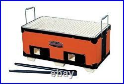 KINKA BBQ Diatomite Charcoal Grill Stove Konro yakitori 375×215mm B-4 from Japan