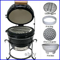 Kamado 13 Ceramic BBQ Grill, BBQ Egg, BBQ Smoker (free cover)