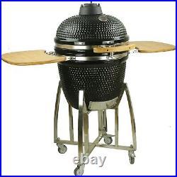 Kamado 18 Inch Extra Large Ceramic BBQ Grill, BBQ Egg, BBQ Smoker (free cover)