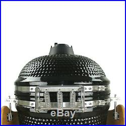 Kamado BBQ Grill Smoker Ceramic Egg Charcoal Cooking Oven Outdoor 23.5