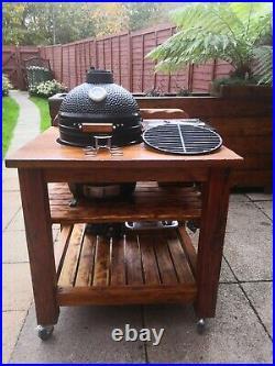 Kamado Bono Minimo15 BBQ Grill Smoker Ceramic Egg Charcoal Cooking