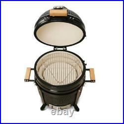 Kamado Bono Minimo15 BBQ Grill Smoker Ceramic Egg Charcoal Cooking Oven Outdoor