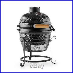 Kamado Ceramic Grill Grilled Oven Smoker Glazed Food Garden Barbeque Bbq Meat