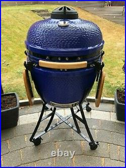 Kamado Ceramic Oven BBQ 24 Barbecue Grill BarbeSkew with free heat deflector