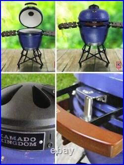 Kamado Kingdom 24 Bbq Grill Egg Ceramic White Red Blue Not Big Green Bono Joe