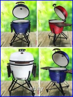 Kamado Kingdom 26 Bbq Grill Egg Ceramic White Blue Not Big XXL Green Bono Joe
