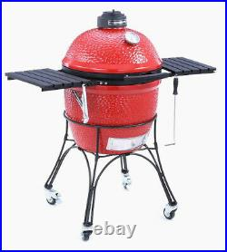 Kamado joe classic 18in Charcoal Grill cover bbq barbecue griddle indoor ceramic