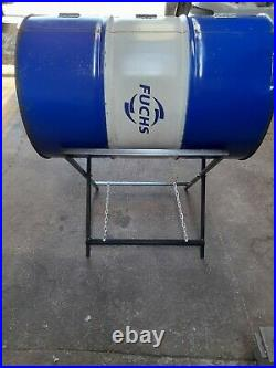 LARGE OIL DRUM BBQ / charcoal grill jerk pan with foldable stand