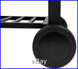 LUND BBQ Barbecue Grill Charcoal Portable Grill Wheels Grate 23x15