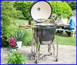 La Hacienda ceramic Kamado Egg outdoor pizza oven/BBQ/grill/smoker 68036