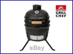 Landmann GrillChef Black Mini Egg Ceramic Kamado Charcoal BBQ Grill Smoker