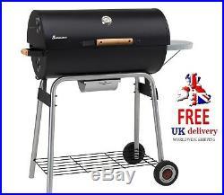 Landmann Taurus 660 Barbecue Black Charcoal BBQ Wheels Half Barrel Grill Smoker