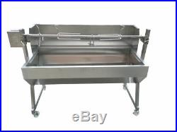 Large 1.2m Stainless 30-100kg Spartan Spit Roaster Charcoal BBQ Grill