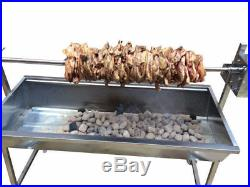 Large 1.2m Stainless 30kg Master Spit Roaster Rotisserie Charcoal BBQ Grill