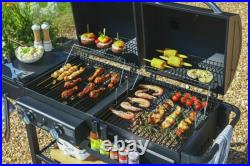 Large 2-in-1 Charcoal BBQ & 2 Burner Gas Barbecue Premium Dual Fuel Combi Grill