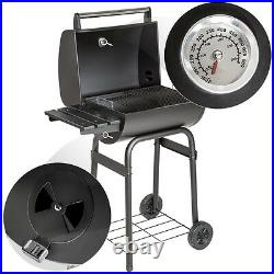 Large BBQ barbecue charcoal smoker grill camping with temperature display new
