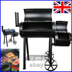 Large Barbecue Grill Steel BBQ Charcoal Smoker Outdoor Cooking Picnic Movetable