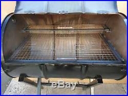 Large Bbq Charcoal 200l Oil Barrel Smoker Grill Jerk Pan With Gauge Temperature