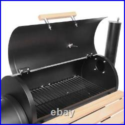 Large Charcoal Barbecue Grill with Wheels Outdoor Portable BBQ Trolley Smoker
