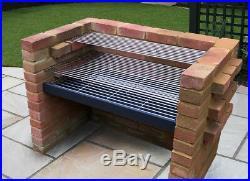 Large Charcoal DIY Brick BBQ Kit 91cm x 40cm Grill Heavy Duty Design