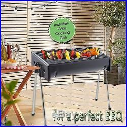 Large Half Barrel Barbecue Black Steel Bbq Grill Drum Portable Outdoor Food