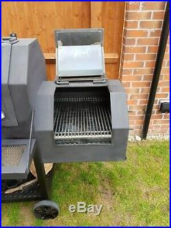 Large Heavy Duty Offset Smoker Bbq Charcoal Grill
